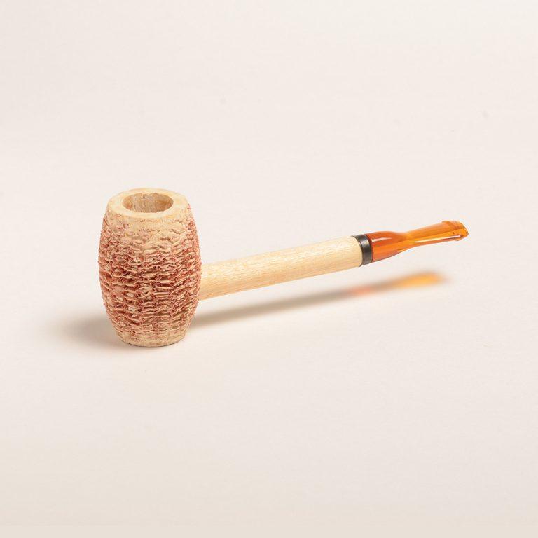 Eaton Corn Cob Pipe with Amber Bit