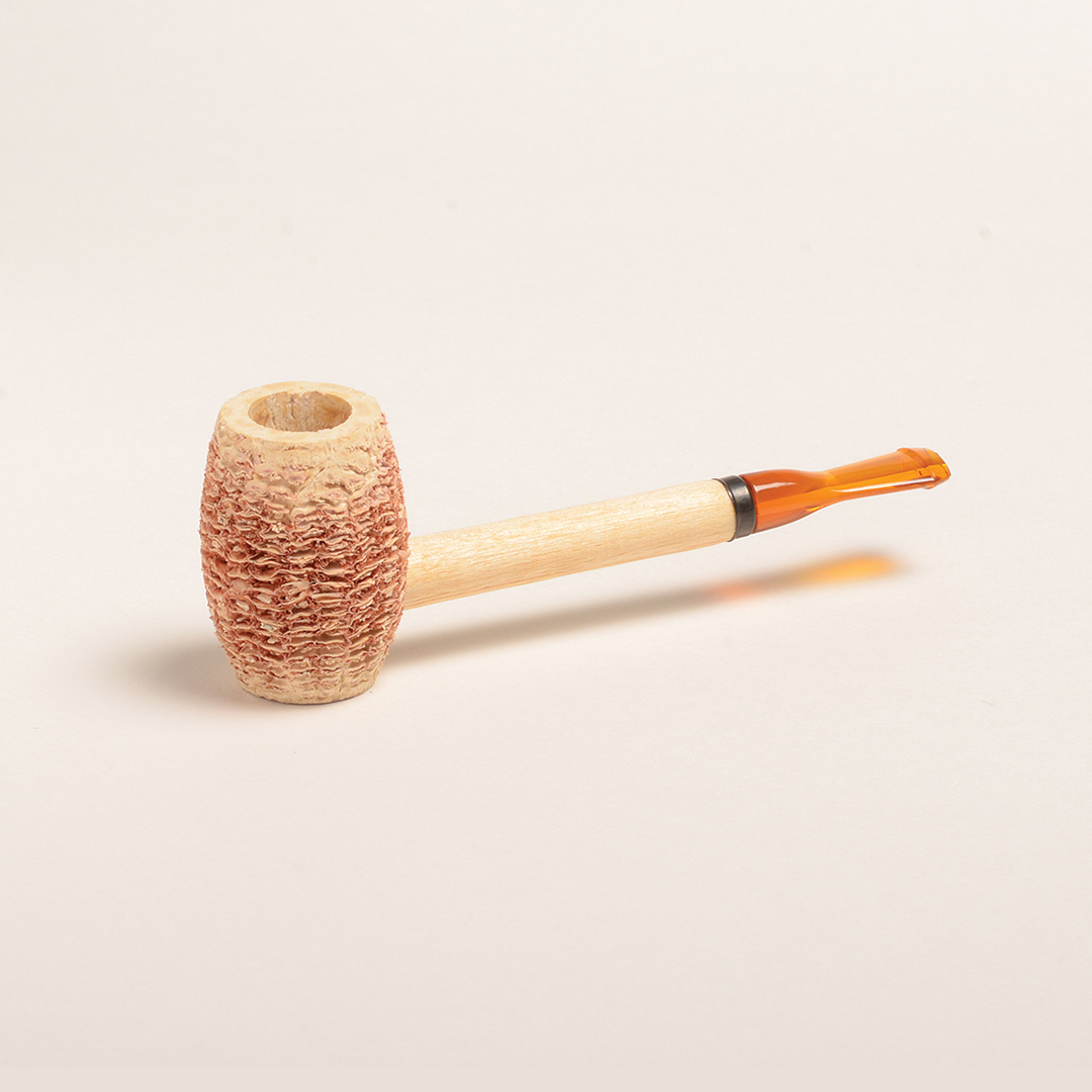 Eaton Corn Cob Pipe with Amber Bit