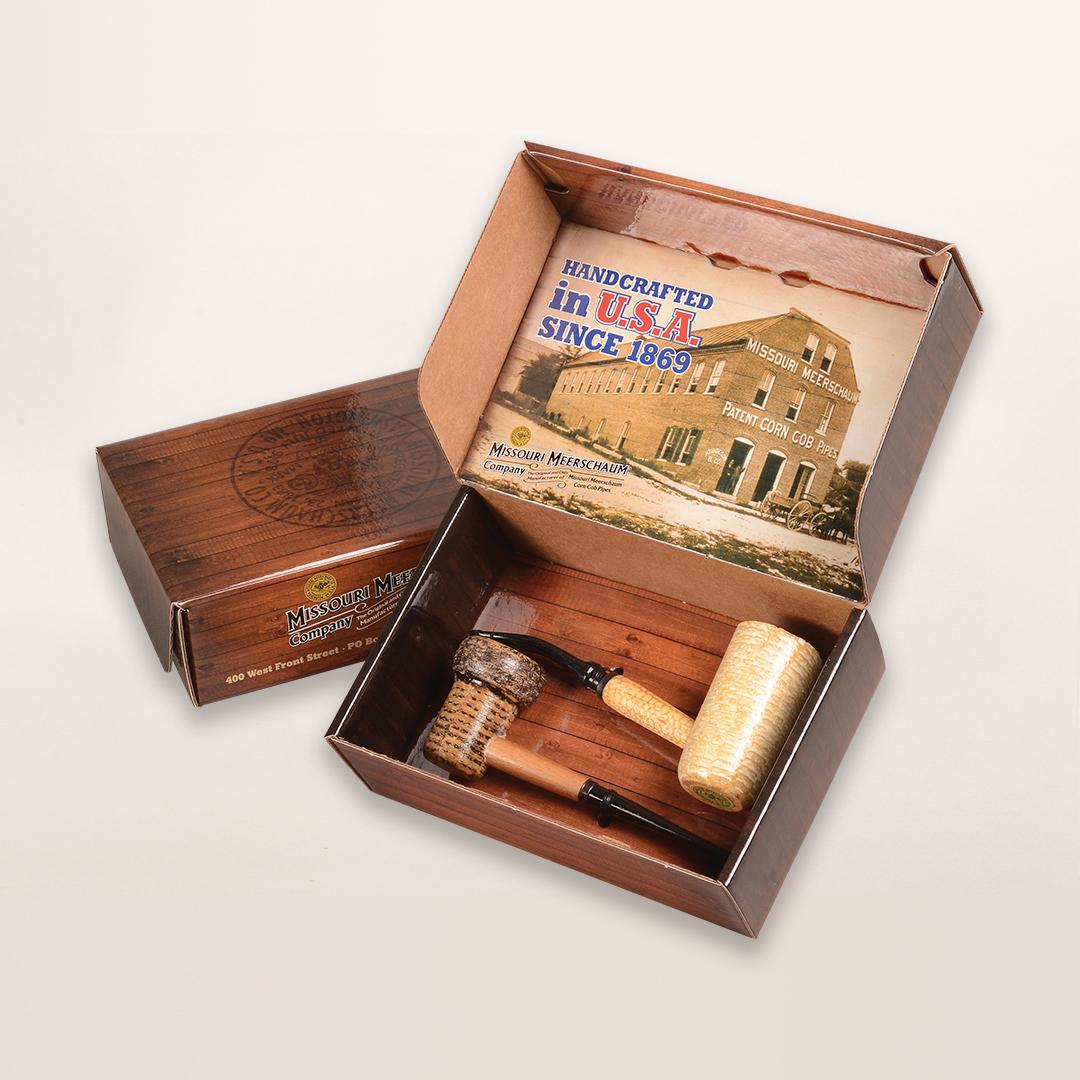 2 Pipe American Assortment Gift Set by Missouri Meerschaum