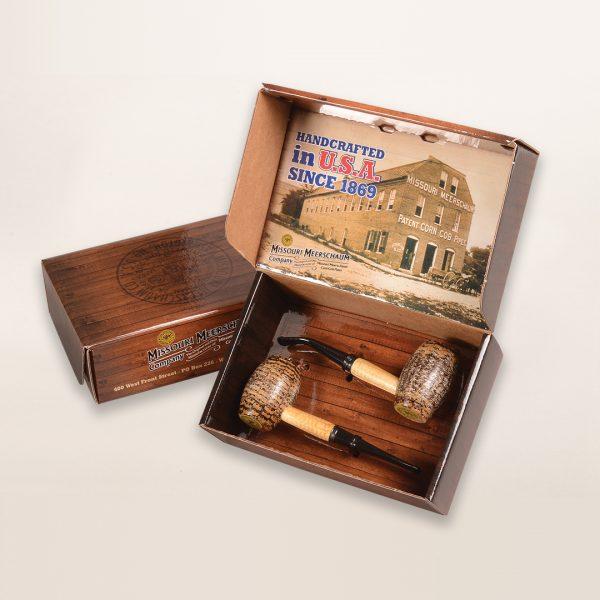 2 Pipe Country Gentleman Gift Set by Missouri Meerschaum