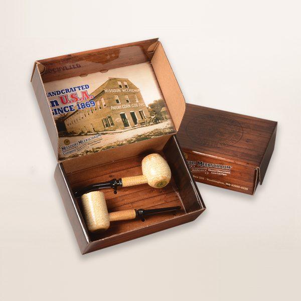 2 Pipe Diplomat Gift Set by Missouri Meerschaum