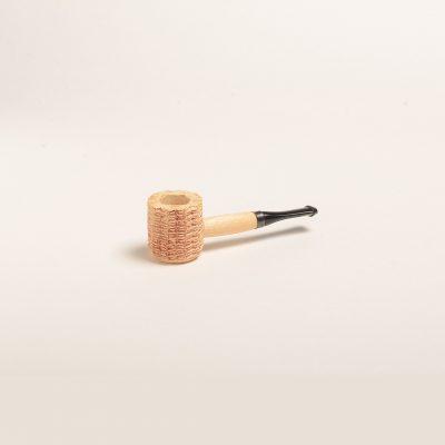 Miniature Corn Cob Pipe (Natural w/ Black Bit)