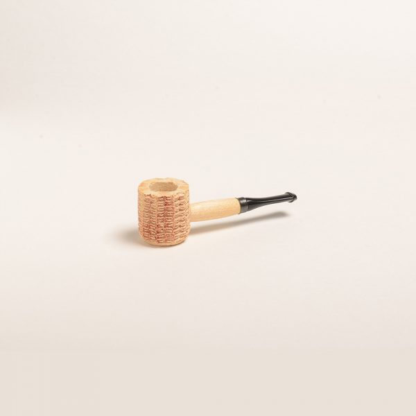 Miniature Corn Cob Pipe (Natural w/ Black Bit)