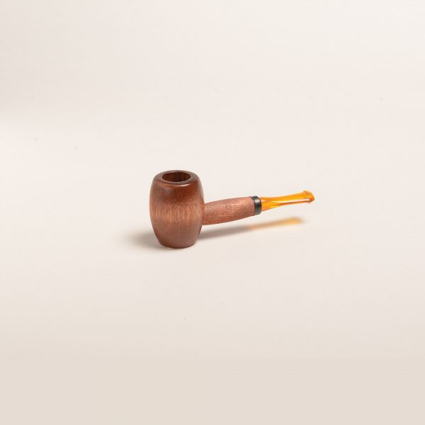 Ozark Miniature Hardwood Pipe (Cherry w/ Amber Stem) from Missouri Meerschaum