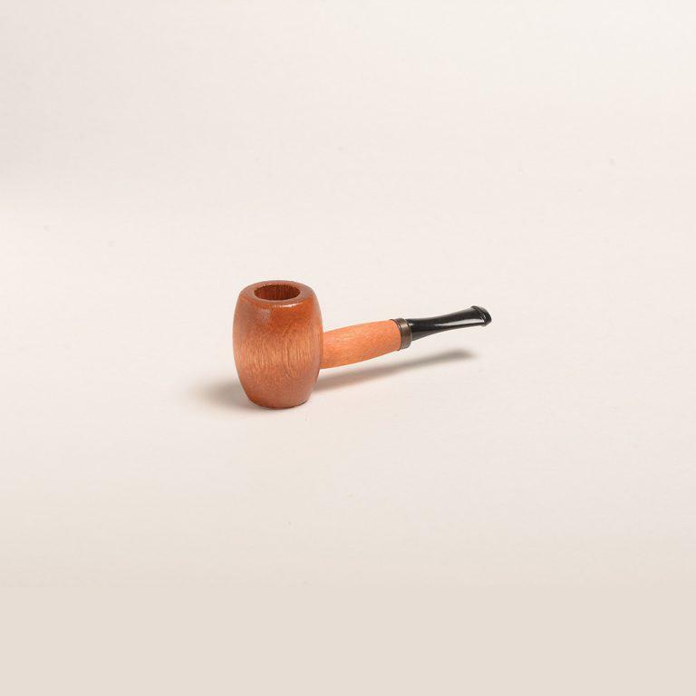Ozark Miniature Hardwood Pipe (Maple w/ Black Stem) from Missouri Meerschaum