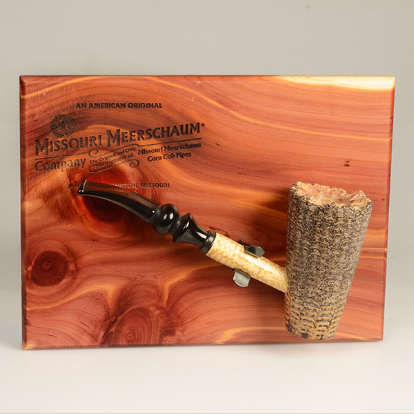 Freehand Corn Cob Pipe on Plaque