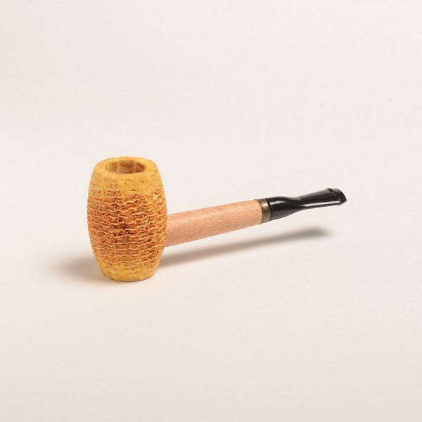 Tom Sawyer Corn Cob Pipe with Straight Black Bit from Missouri Meerschaum