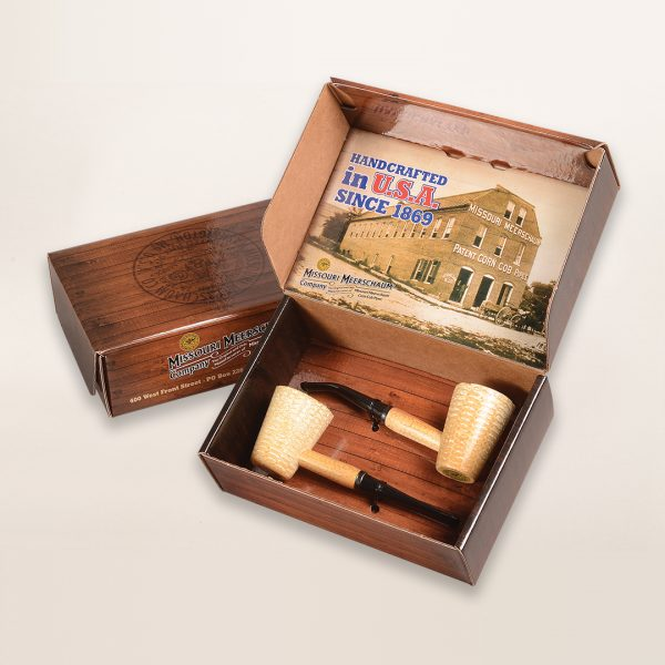 2 Pipe Mark Twain Corn Cob Pipe Gift Set