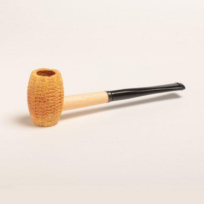 Huck Finn Corn Cob Pipe w/ Straight Black Bit