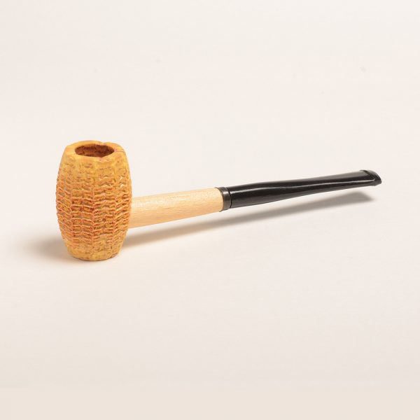 Huck Finn Corn Cob Pipe w/ Straight Black Bit