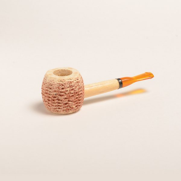 Morgan Corn Cob Pipe Natural w/ Amber Bit