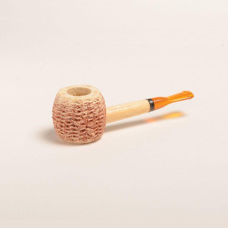 Morgan Corn Cob Pipe Natural w/ Amber Bit