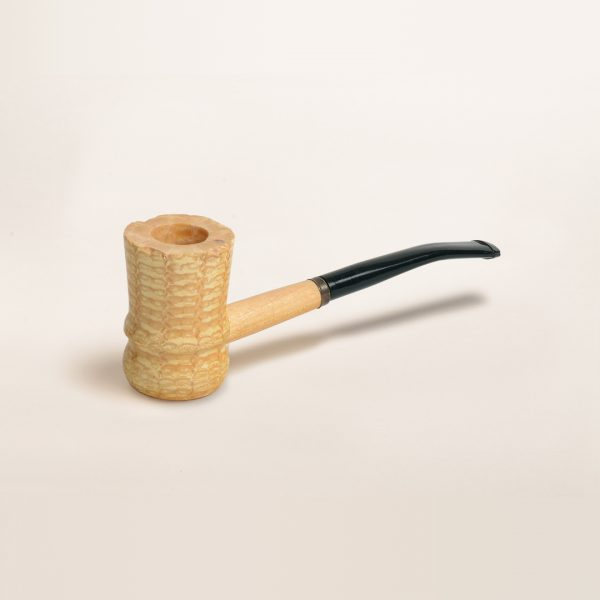 Great Dane Spindle Corn Cob Pipe with Bent Bit