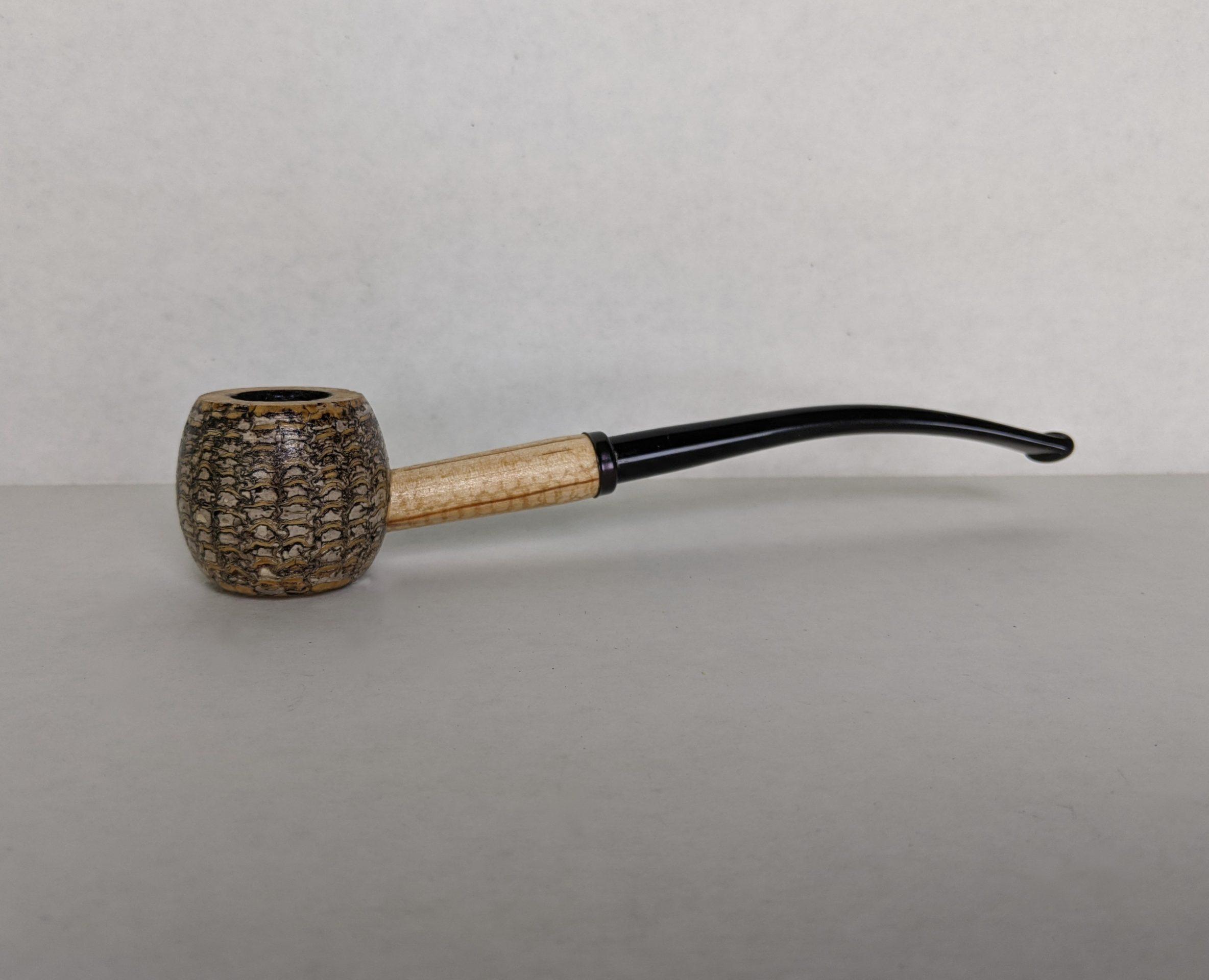 Missouri meerschaum miniature amber bit corn cob pipe