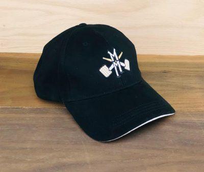 Premium Black Hat with Logo-0