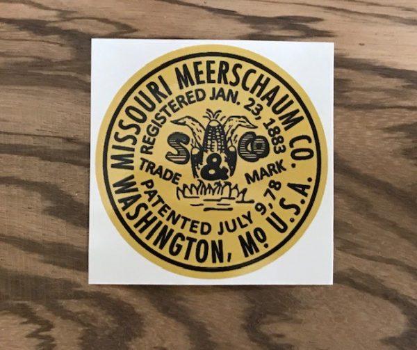 Missouri Meerschaum Vintage Vinyl Sticker-0