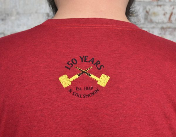 "Red ""150 Years"" Short Sleeve T- Shirt-549924"