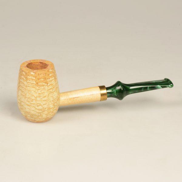 The Emerald Corn Cob Pipe from Missouri Meerschaum