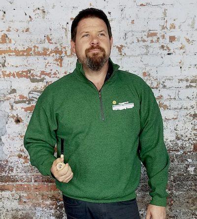Green Quarter Zip Sweatshirt-0