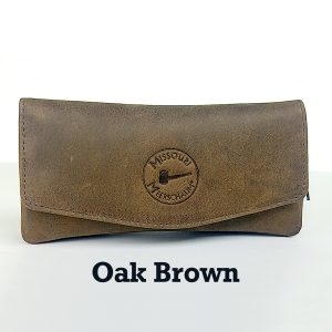 Missouri Meerschaum Leather Pipe Pouch - Oak Brown