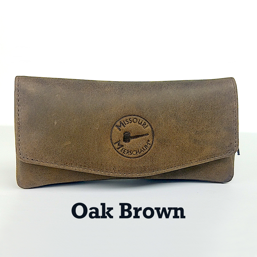 Missouri Meerschaum Leather Pipe Pouch - Oak Brown