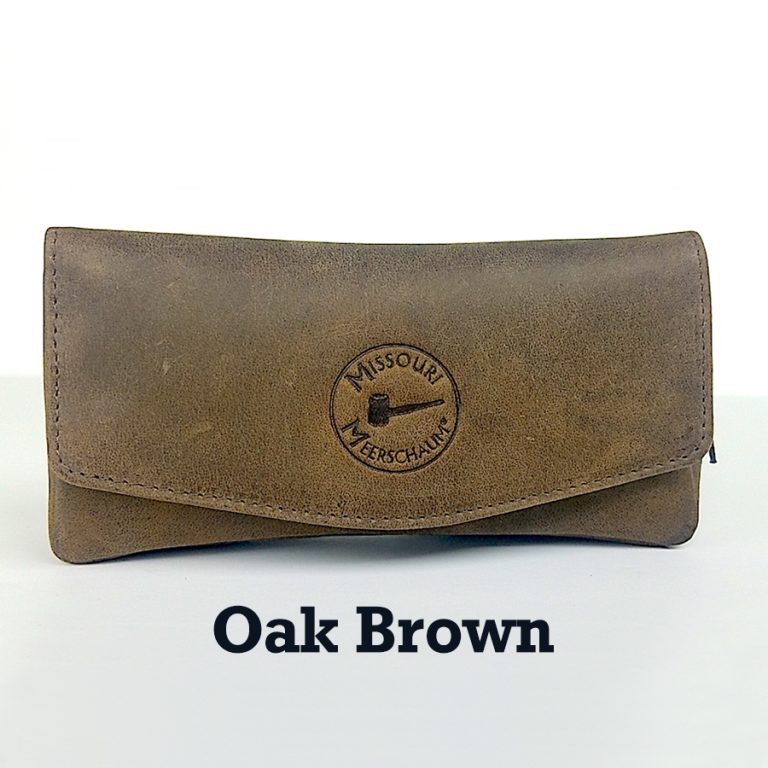 Missouri Meerschaum Leather Pipe Pouches-Oak Brown-550181