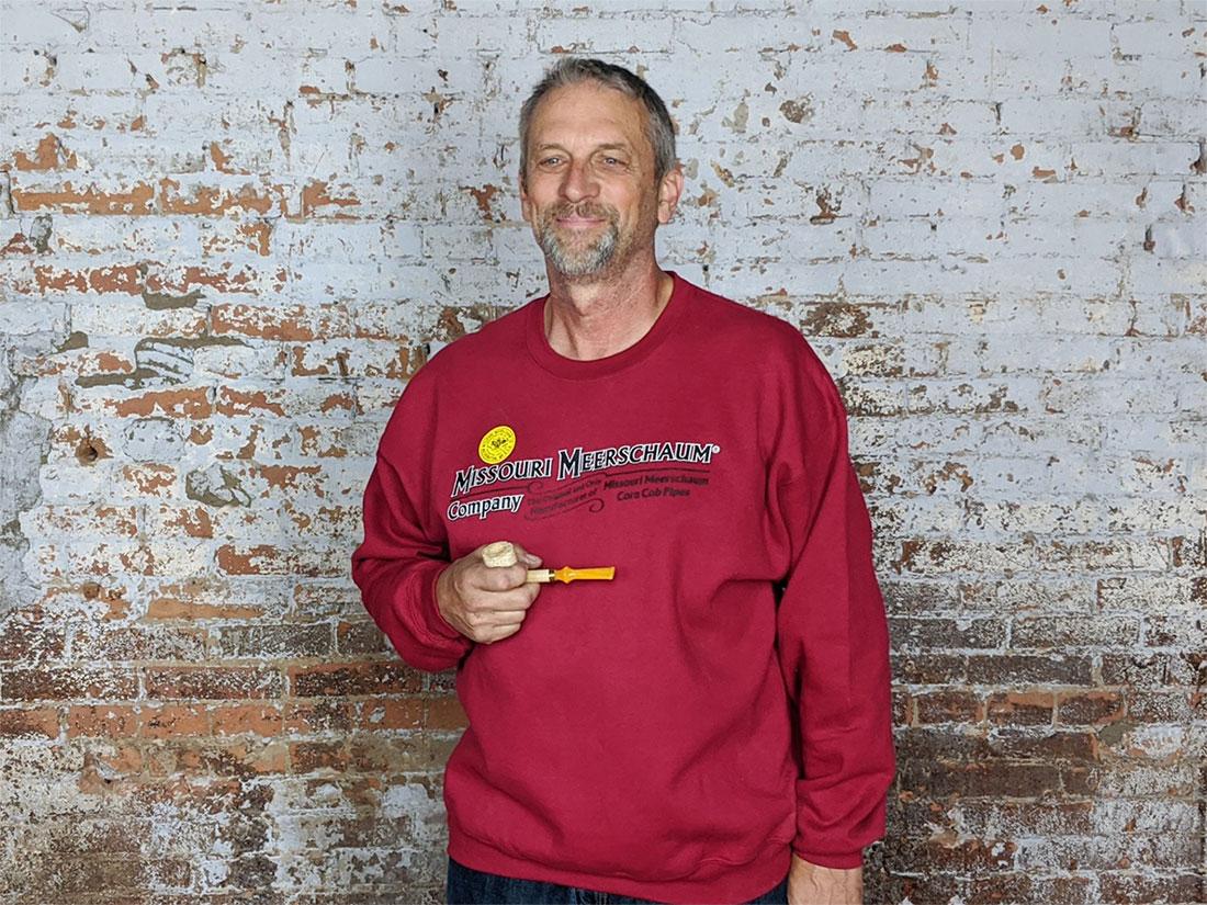 Red Long Sleeve Missouri Meerschaum Sweatshirt